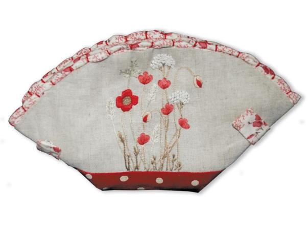 "Trousse couture ""coquelicot"""