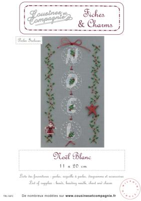 NOEL BLANC - SEMI-KIT FICHES & CHARMS