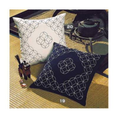 Kit Olympus - coussin 100% coton à broder en broderie sashiko