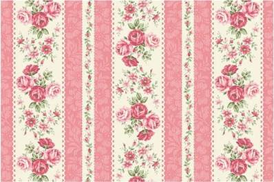 Tissu Quilt Gate collection Ruru Rose For You