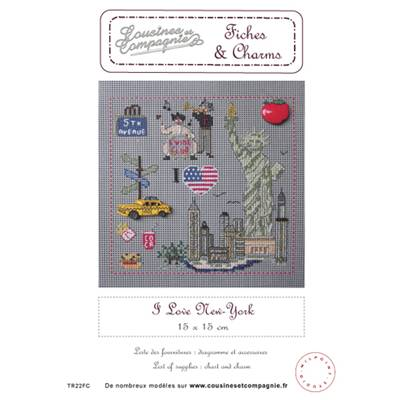 I love new-york - semi-kit fiches & charms